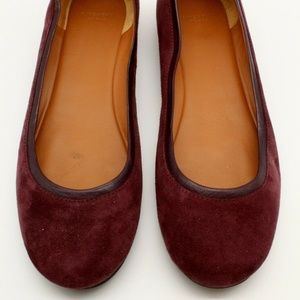 Givenchy Burgundy Suede Flats Size 10